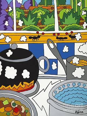 Painting - Kitchen Garden by Rojax Art