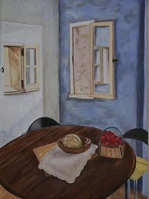 Kitchen In Les Baux Art Print by Cynthia Ablicki