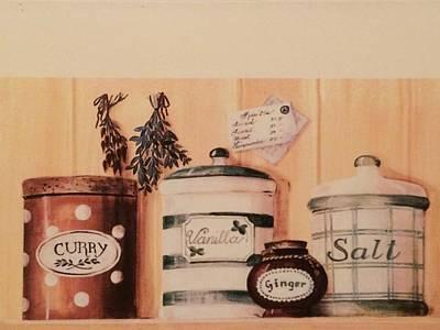 Jenna Thomas Wall Art - Digital Art - Kitchen Ingredients by Jennifer Thomas