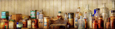 Photograph - Kitchen - Ingredients - Kitchen Bottles by Mike Savad