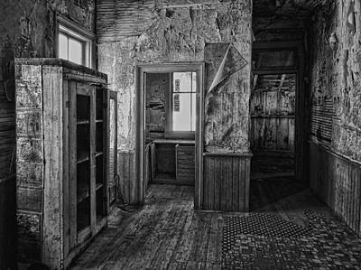Bannack Ghost Town Photograph - Kitchen Interior - Bannack Ghost Town -  Montana by Daniel Hagerman