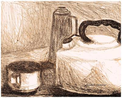 Still Life Drawings - Kitchen by Kendall Kessler