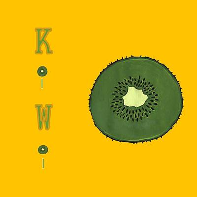 Kiwi Mixed Media - Kitchen Kiwi by Kathleen Sartoris