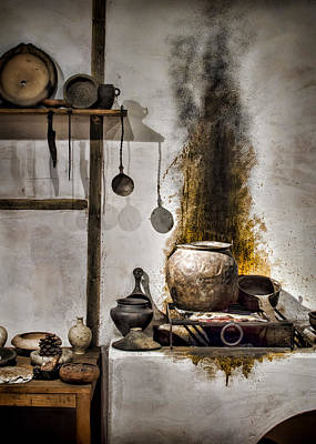 Fired Clay Photograph - Kitchen Of The Past by Heather Applegate