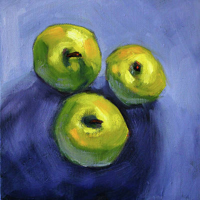 Painting - Kitchen Pears Still Life by Nancy Merkle
