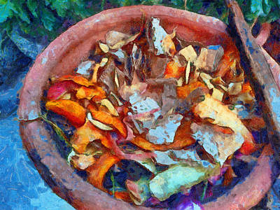 Abstract Shapes Janice Austin Royalty Free Images - Kitchen peels for composting Royalty-Free Image by Ashish Agarwal