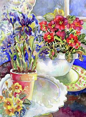 Painting - Kitchen Primrose I by Ann Nicholson