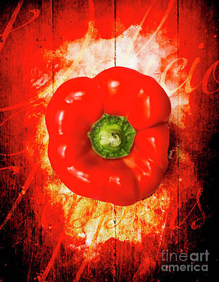 Red Abstract Photograph - Kitchen Red Pepper Art by Jorgo Photography - Wall Art Gallery