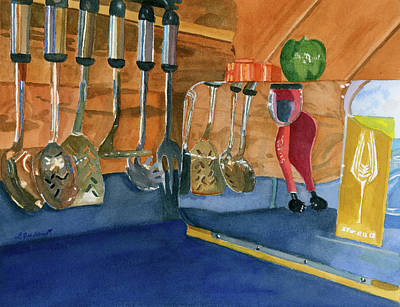 Painting - Kitchen Reflections by Lynne Reichhart
