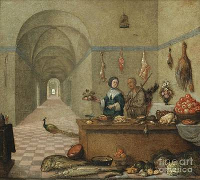 Painting - Kitchen Scene by Celestial Images