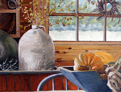 Click Galleries Painting - Kitchen Scene by Richard T Pranke