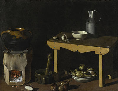 Painting - Kitchen Still Life by Attributed to Diego Velazquez