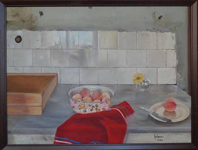 Marble Kitchen Counters Painting - Kitchen Still Life by Rebecca Giles