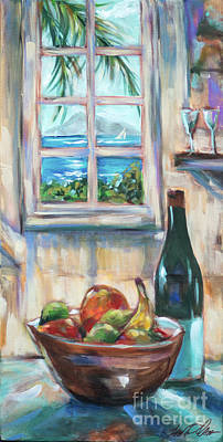 Painting - Kitchen Table View by Linda Olsen