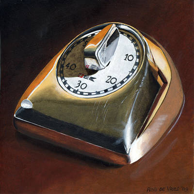 Painting - Kitchen Timer by Rob De Vries