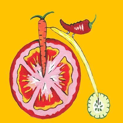 Kitchen Vegetable Art Art Print