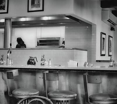 Photograph - Kitchen View From A Table - French Quarter - New Orleans 1b - B/w by Greg Jackson