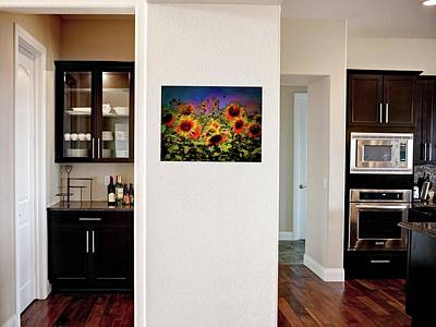 Photograph - Kitchen With Sunflower Breeze by Dorothy Berry-Lound