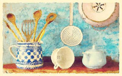 Hanger Digital Art - Kitchenware by BONB Creative