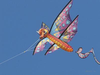 Art Print featuring the photograph Kite 1 by Maciek Froncisz