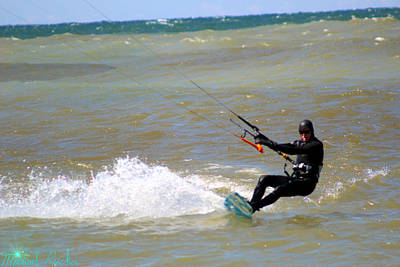 Photograph - Kite Boarder by Michael Rucker