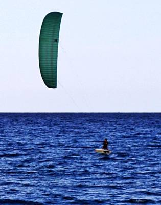 Photograph - Kite Board by John Wartman