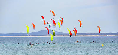 Photograph - Kite Boarding At La Ventana by Mark Harrington