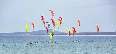 Photograph - Kite Boarding At La Ventana by Mark Harrington