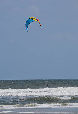 Photograph - Kite Boarding - Kitesurfing At Jacksonville Beach by rd Erickson