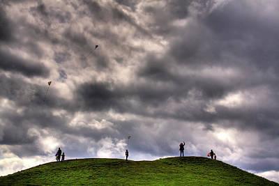 Kite Flying Art Print by David Patterson