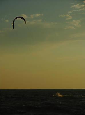 Kite Surfer Art Print by Juergen Roth