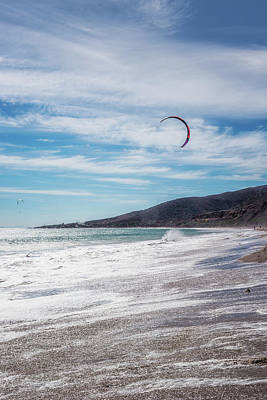 Photograph - Kite Surfers At Nicholas Canyon Beach by Belinda Greb