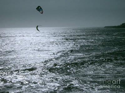 California Kite Surfers Art Print by Rick Maxwell