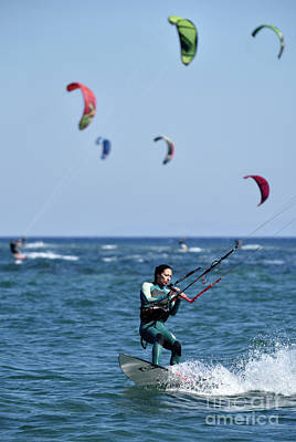 Surfing Photograph - Kite Surfing by George Atsametakis