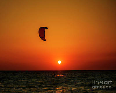 Kite Surfing Art Print by Jelena Jovanovic