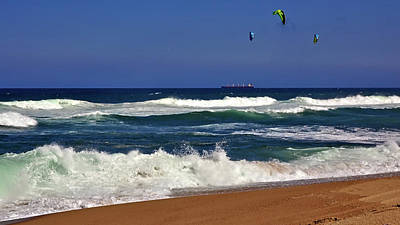 Photograph - Kite Surfing by Jeremy Hayden