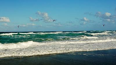Photograph - Kite Surfing by John Wartman
