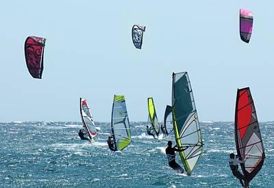 Photograph - Kite Surfing by Michael Mogensen