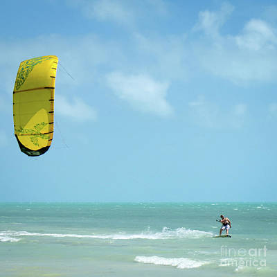 Photograph - Kiteboarder, Bahia Honda Key, Florida  -80421 by John Bald