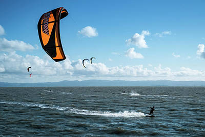 Photograph - Kiteboarding East Bay San Francisco Area California by Mary Lee Dereske