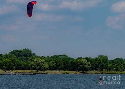 Photograph - Kiteboarding On Seneca by William Norton