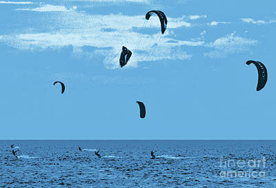 Photograph - Kiteboarding On The Outer Banks Fx by Dan Carmichael