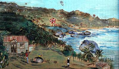 Painting - Kites At Bathsheba by Richard Jules