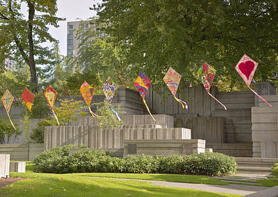 Kites In A Public Park Seattle Wa. Original by Gino Rigucci