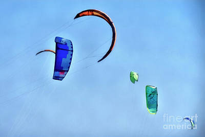 Painting - Kites In The Sky by George Atsametakis