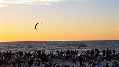 Sand Photograph - Kitesurfer by Ric Schafer