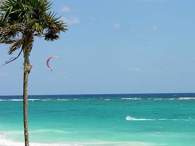 Kitesurfing The Caribbean Art Print