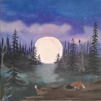 Fox Kit Painting - Kits In Play by Lori Lafevers