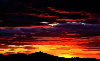 Mark Myhaver Rights Managed Images - Kitt Peak Sunset Royalty-Free Image by Mark Myhaver