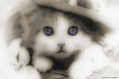 Kitten Art 01 Original by Kevin Chippindall